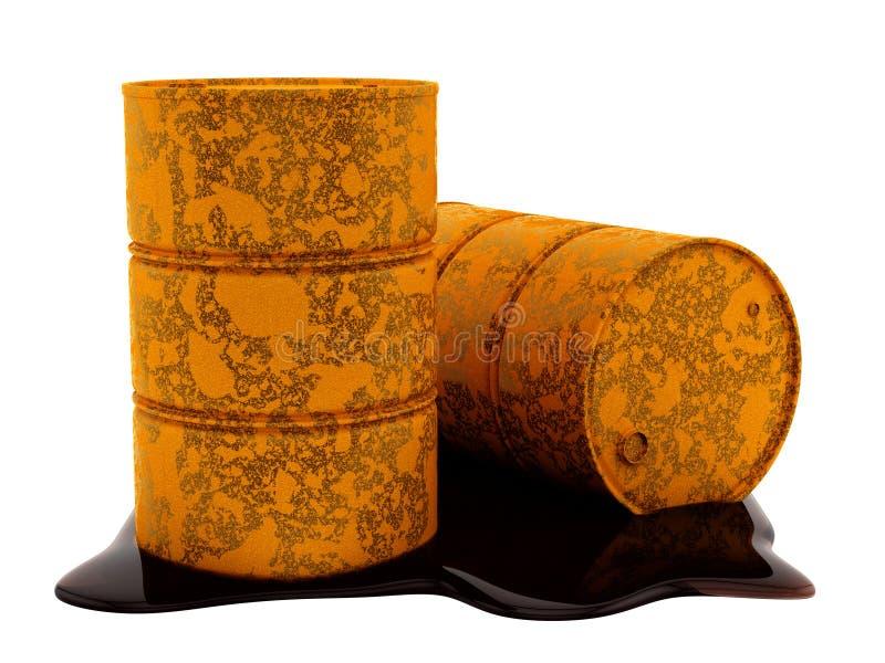 Oljetrummor stock illustrationer
