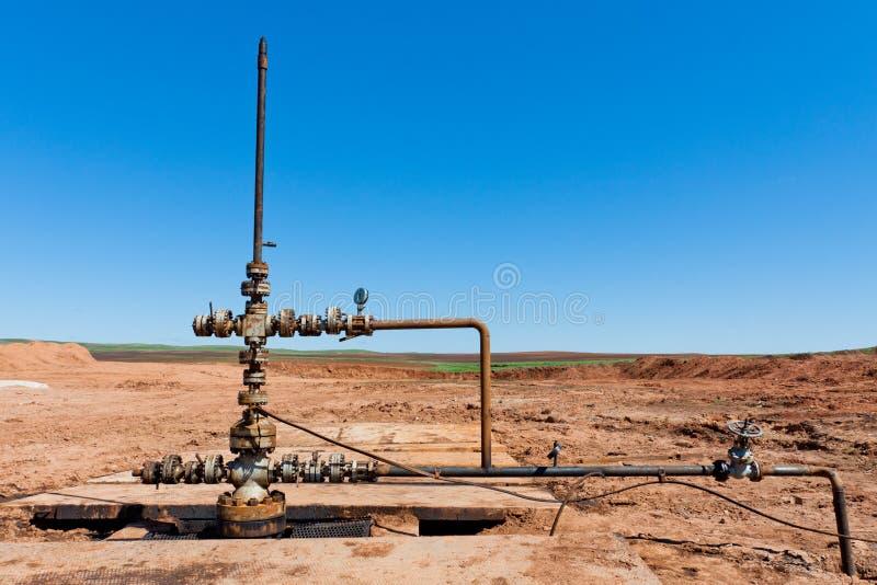 oljewellhead arkivfoton
