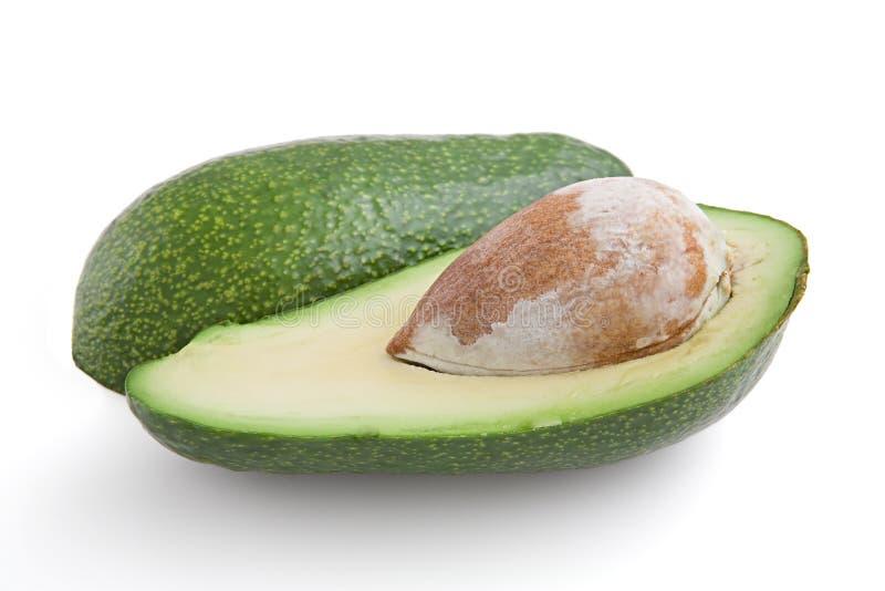 oljigt för makro för avokado frukt isolerat nutritious arkivbild
