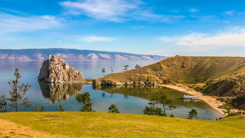 Olkhoneiland van meer Baikal, Rusland royalty-vrije stock afbeeldingen