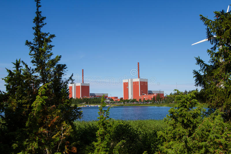 Olkiluoto Nuclear Power Plant. The nuclear power plant Olkiluoto in western Finland stock photo