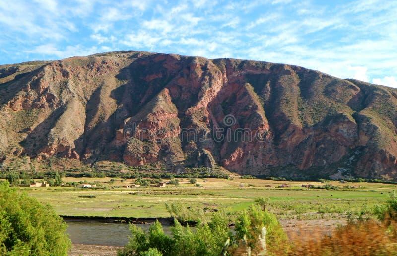 Ollantaytambo,神圣的谷印加人,乌鲁班巴,库斯科,秘鲁令人惊讶的风景  库存图片