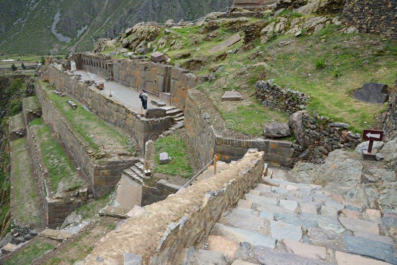 Ollantaytambo, παλαιό φρούριο Inca στην ιερή κοιλάδα, Περού στοκ φωτογραφία με δικαίωμα ελεύθερης χρήσης