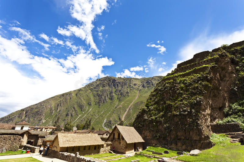 Ollantaytambo -神圣的谷-秘鲁 免版税库存照片