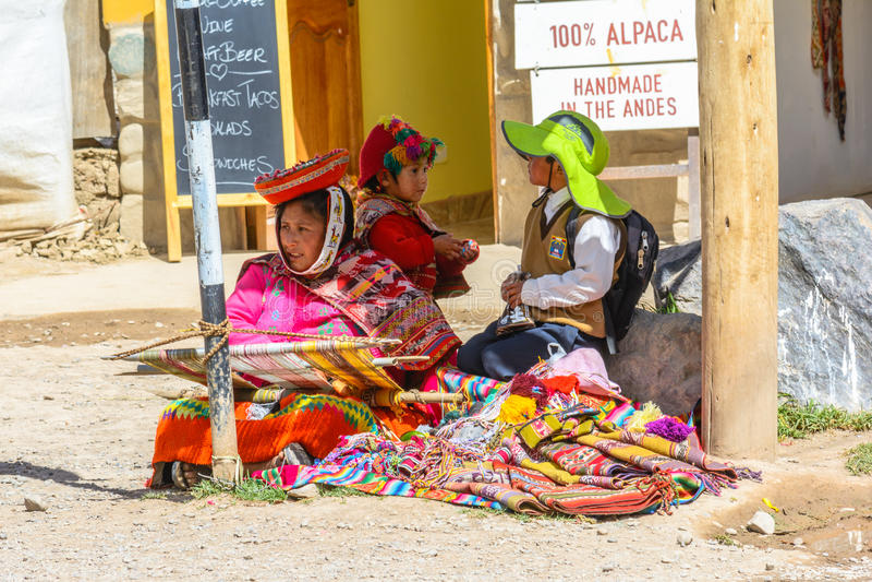 Ollantaytambo, Cusco, Peru stock afbeeldingen