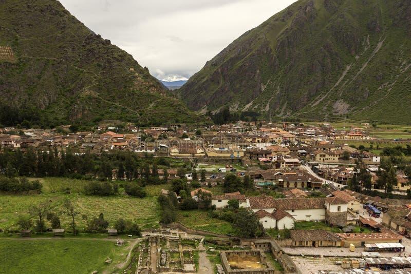 Ollantaytambo en Perú fotos de archivo libres de regalías
