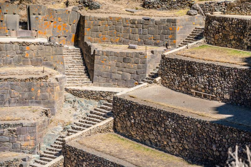 Ollantaytambo fortress ruins, Sacred Valley, Cusco, Peru, South America royalty free stock photos