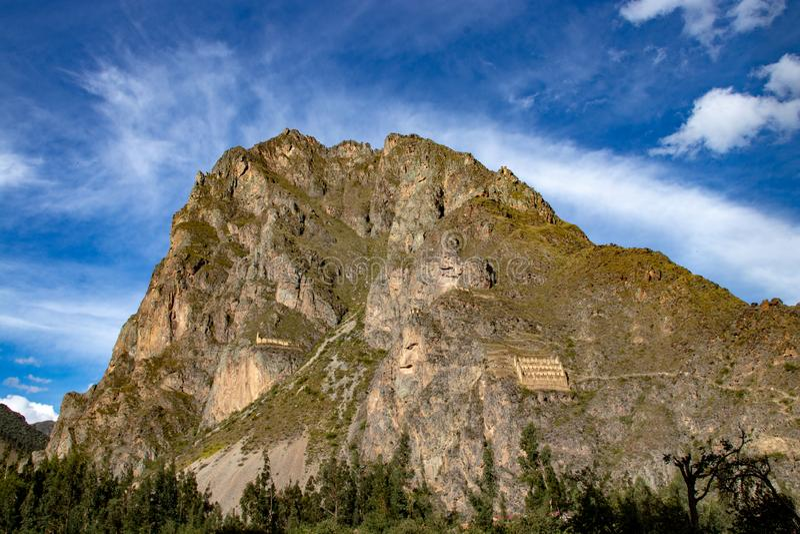 Ollantaytambo Inca Archaeological Site stock afbeelding