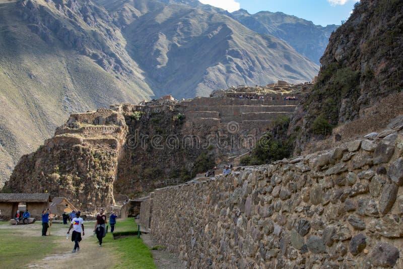 Ollantaytambo Inca Archaeological Site royalty-vrije stock foto
