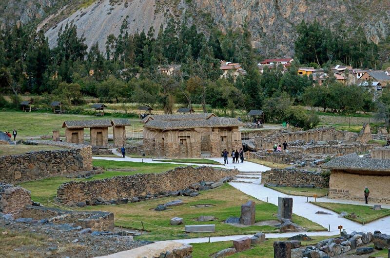 Ollantaytambo, Inca Archaeological Site famoso en la provincia de Urubamba, región de Cusco, Perú imagen de archivo libre de regalías