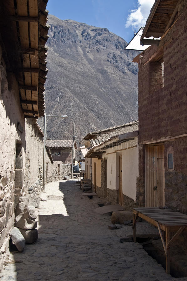 Download Ollantaytambo, inca town stock image. Image of street - 19024803