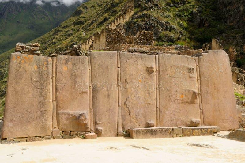 Ollantaytambo Inka forteca zdjęcie stock