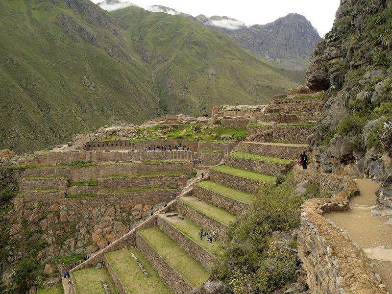 Ollantaytambo, la fortaleza del inca, Perú imágenes de archivo libres de regalías