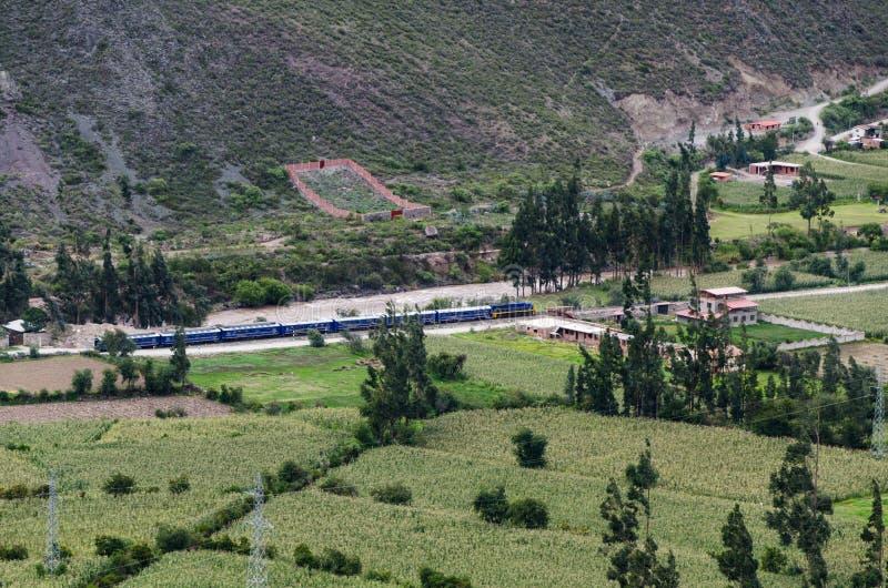 Ollantaytambo, Perú Ruinas de Inca Fortress en el Temple Hill foto de archivo libre de regalías