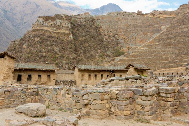 Ollantaytambo - ruines d'Inca images stock