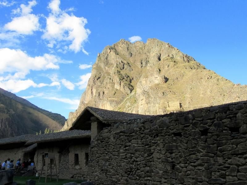 Ollantaytambo Ruins royalty free stock photo