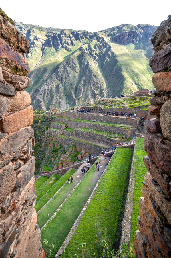 Download Ollantaytambo, Stary Inka Forteca W Świętej Dolinie W I Obraz Stock - Obraz złożonej z miejsce, rolnictwo: 41952045