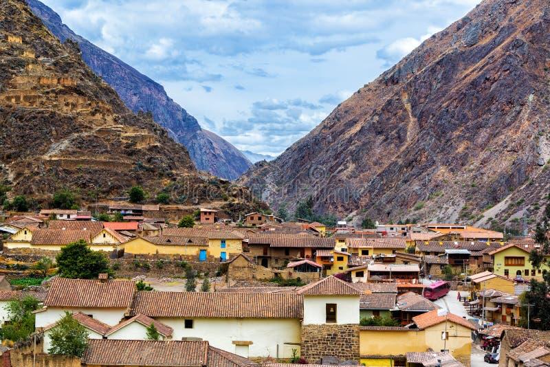 Ollantaytambo wioska zdjęcie royalty free