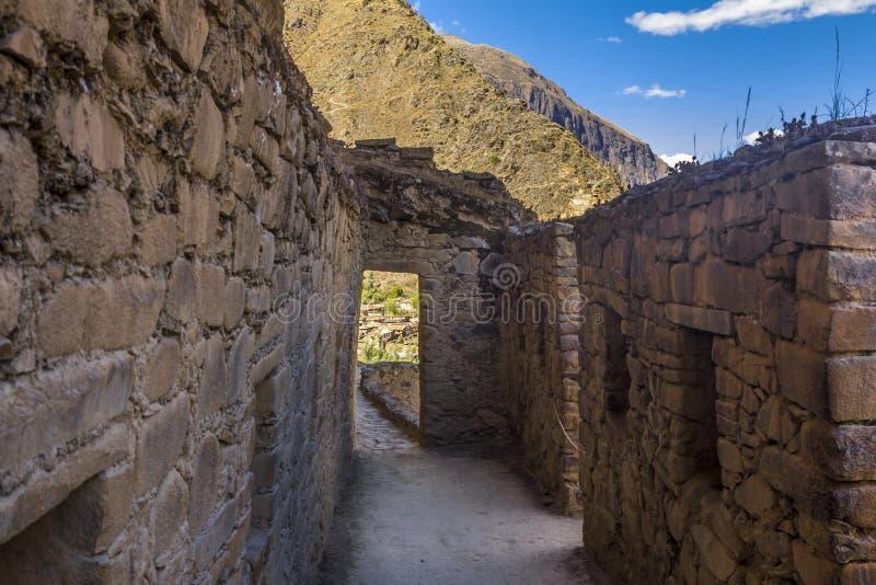 Ollantaytamboruïnes Cuzco Peru stock foto's