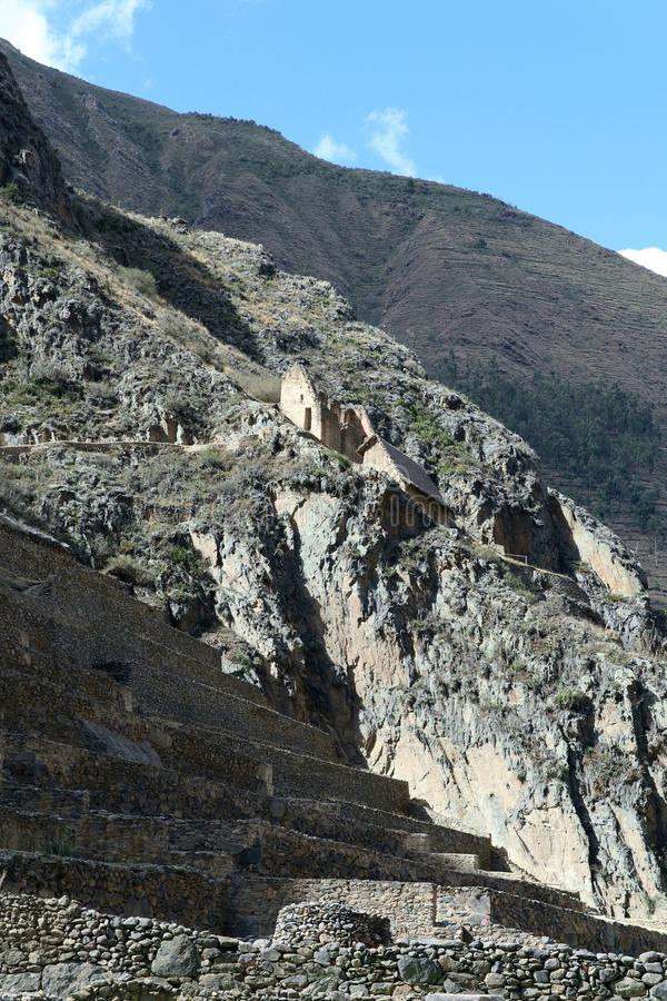 Ollantaytamboruïnes, Peru royalty-vrije stock afbeelding