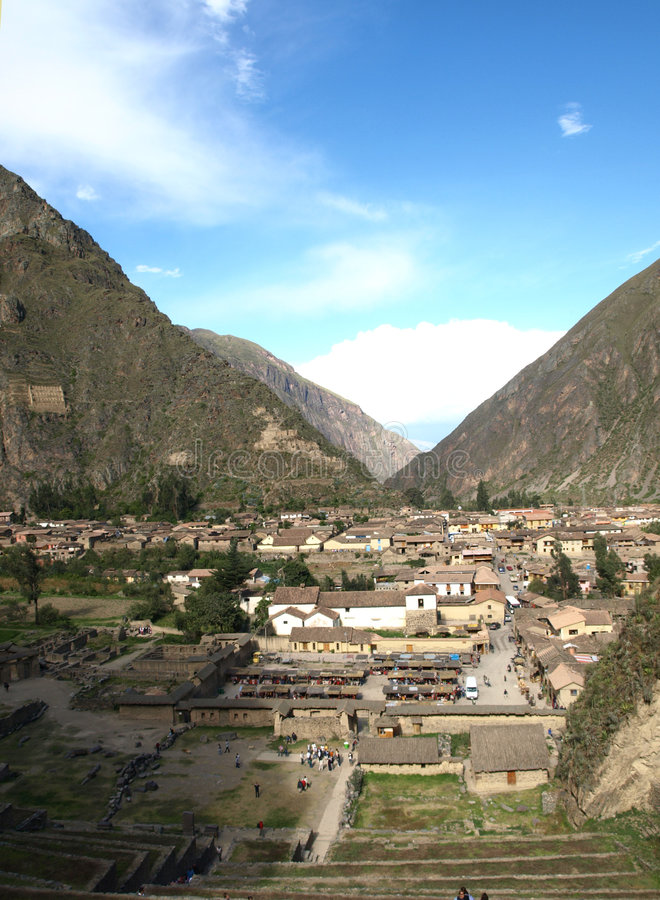 Ollataytambo, Cuzco, Pérou image stock