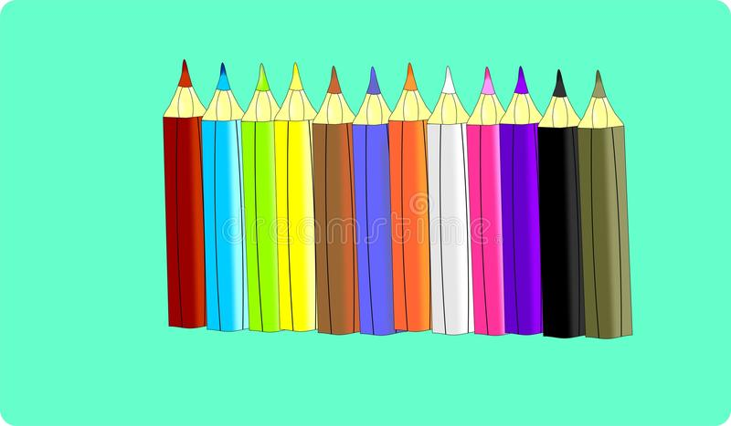 Ollection del ¡ di Ð delle matite immagine stock