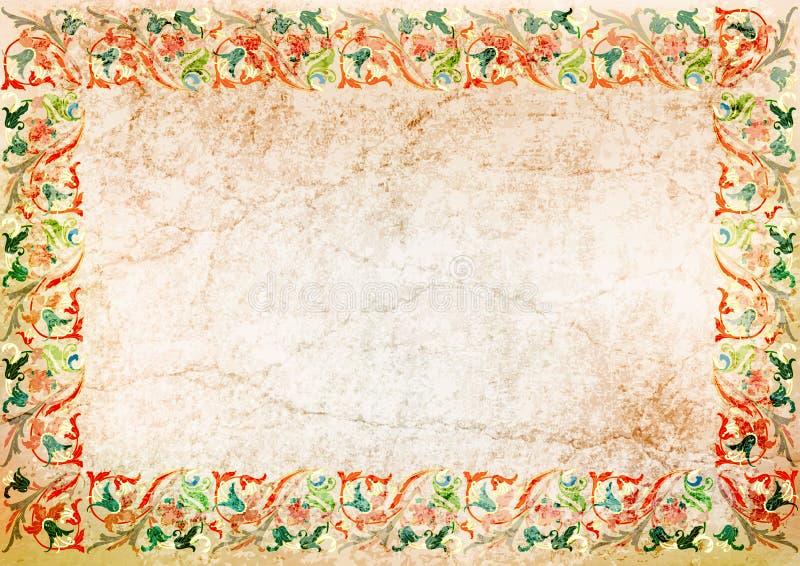 Ollection do fundo do vintage Parede antiga ilustração royalty free