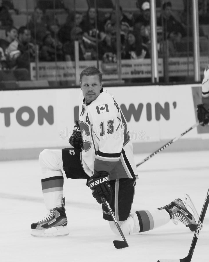 Ollie Jokinen Calgary Flames photographie stock libre de droits