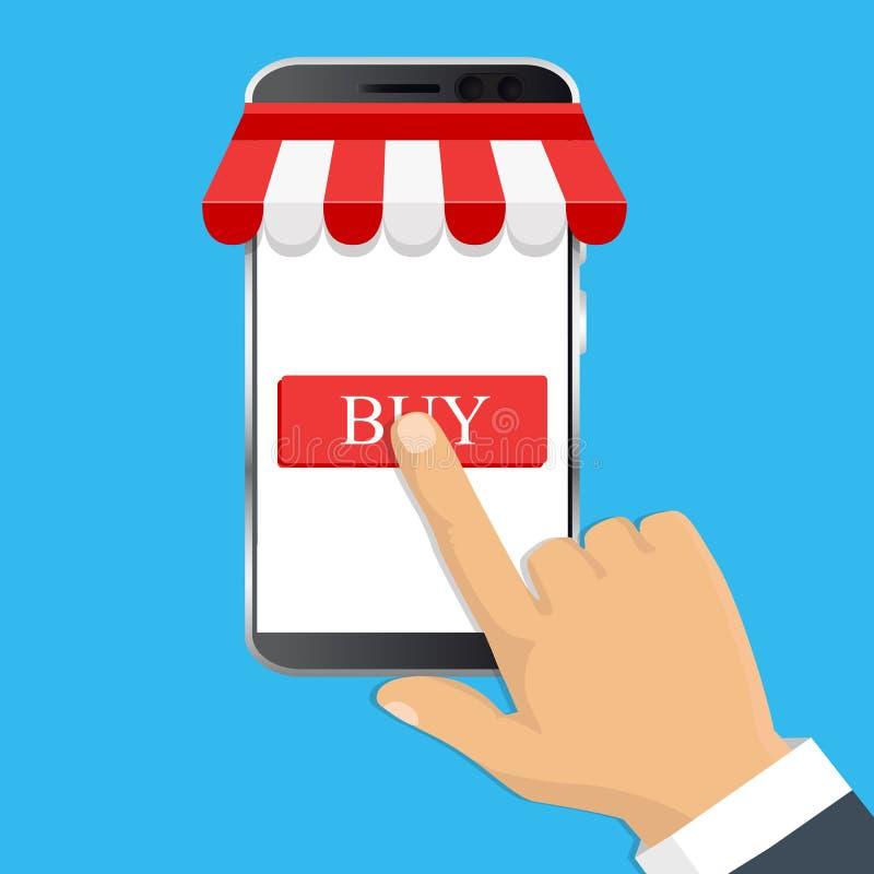 Olline заказа также вектор иллюстрации притяжки corel Онлайн концепция магазина Продажа, s иллюстрация вектора