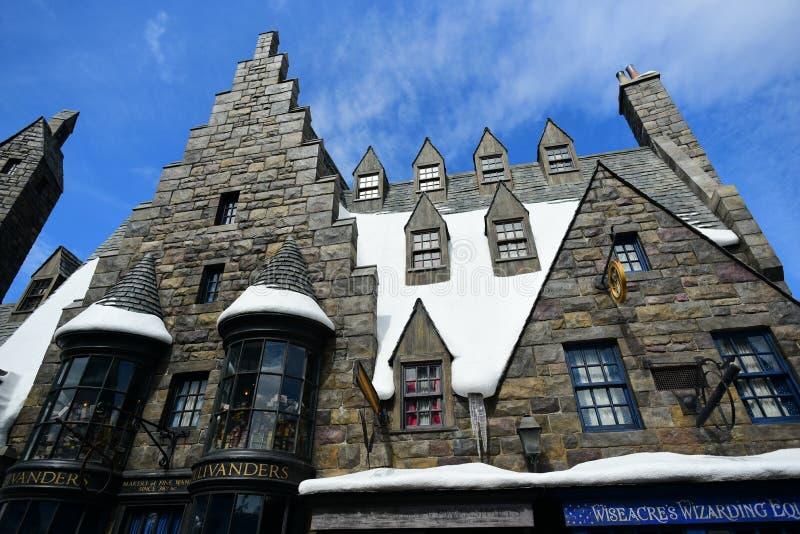 Ollivanders Magic Wand Shop royalty free stock photography