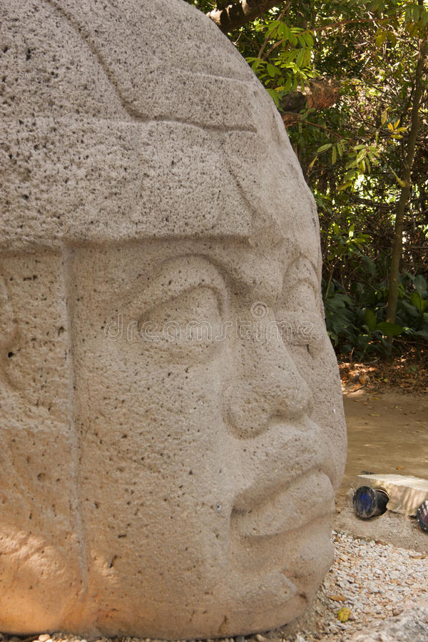 Olmec en Mexico för kulturLaVenta Villahermosa tabasco arkeologi arkivfoto