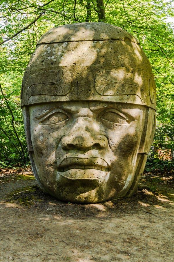 Olmec głowa Żadny 8 zdjęcia royalty free