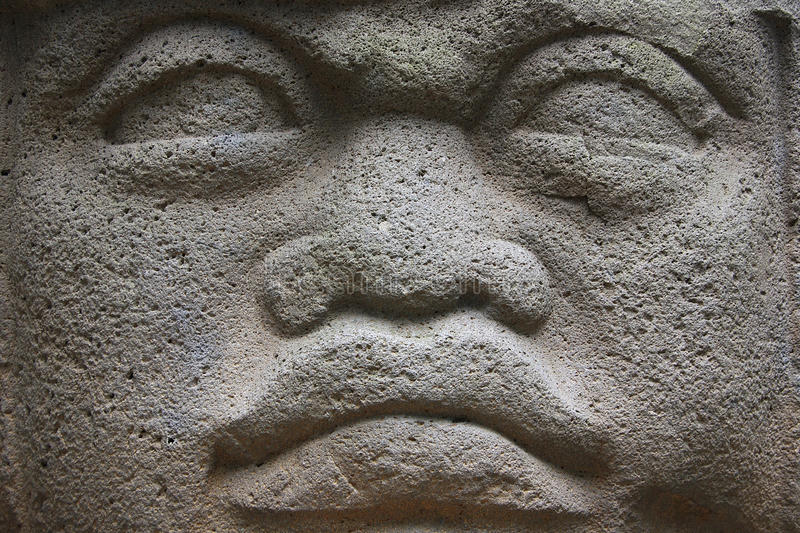 Olmec head stock photos