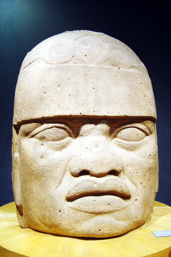 Olmec head royalty free stock photo