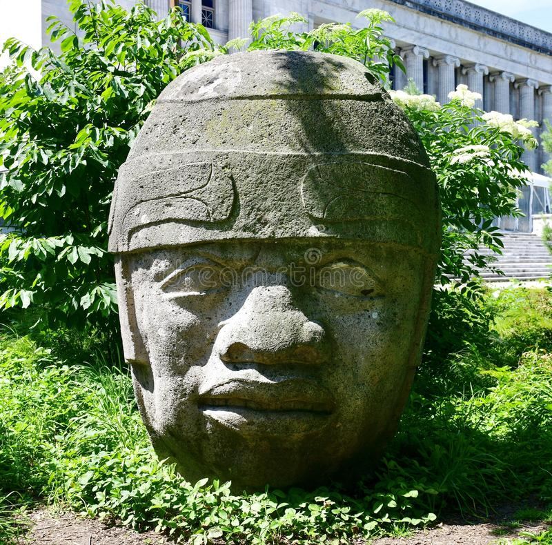 Olmec Head #8 stock photography
