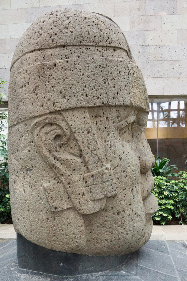 Olmec kamienia głowa obraz stock