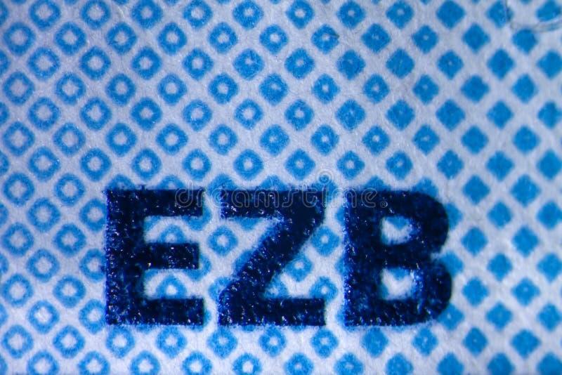 Ologramma su euro Bill fotografie stock libere da diritti