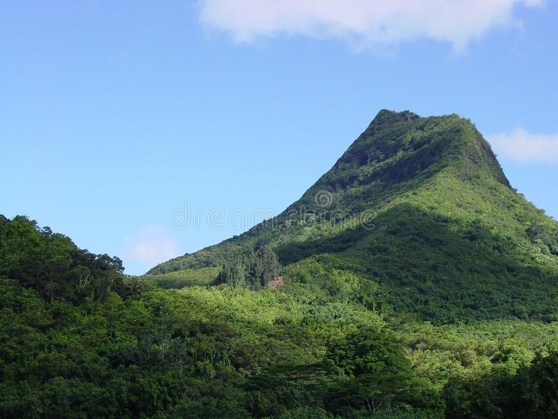 Olomana Mountain Ridge. Oahu, Hawaii. royalty free stock photos