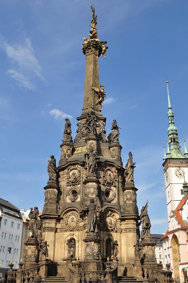Olomouc,Czech republic. Holy Trinity Column (inscribe in UNESCO heritage list) on Upper square in city Olomouc, Czech republic royalty free stock photography