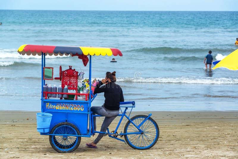 Olon海滩的供营商 免版税库存图片