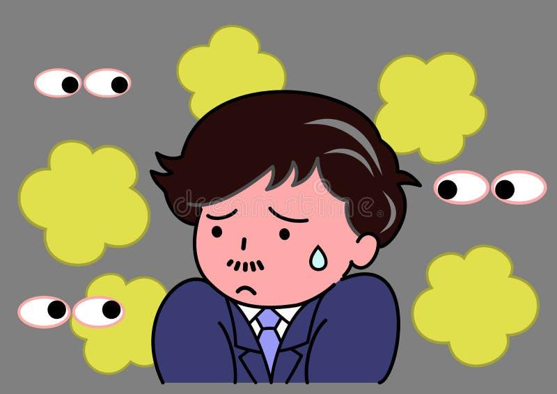 Olor ansioso del od stock de ilustración
