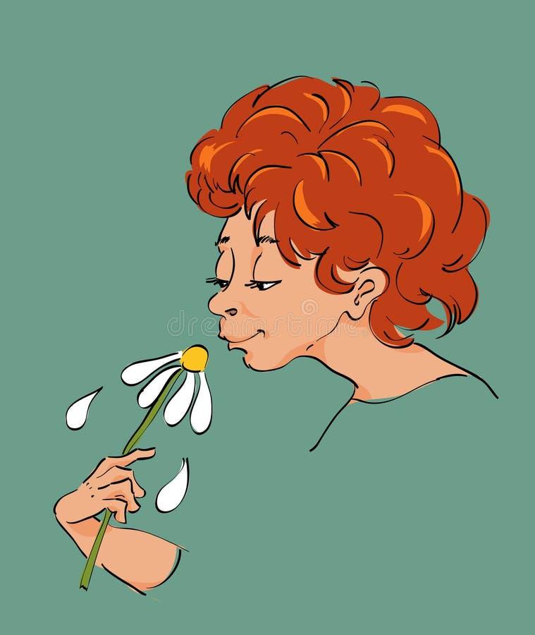Olor de la flor fotografía de archivo libre de regalías