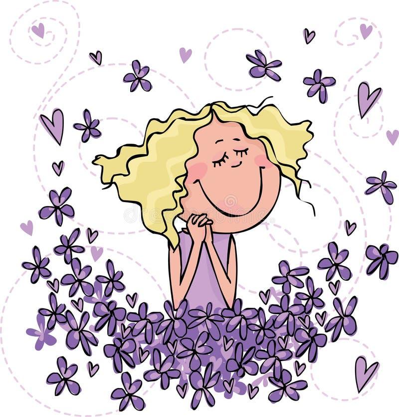 Olor de violetas stock de ilustración