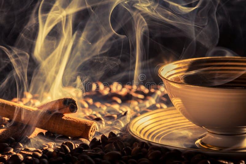 Olor del canela y café asado fotografía de archivo libre de regalías