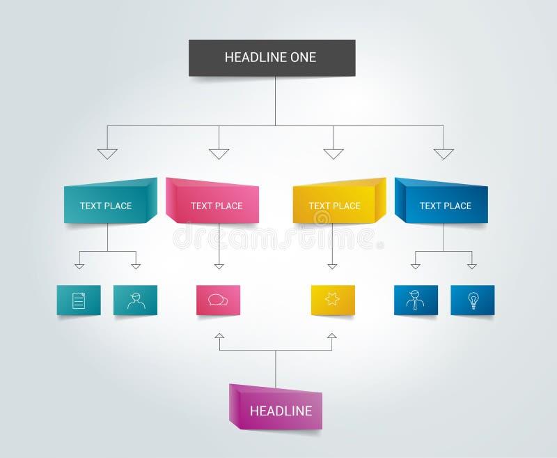 Olored cieni plan Infographics ilustracja wektor