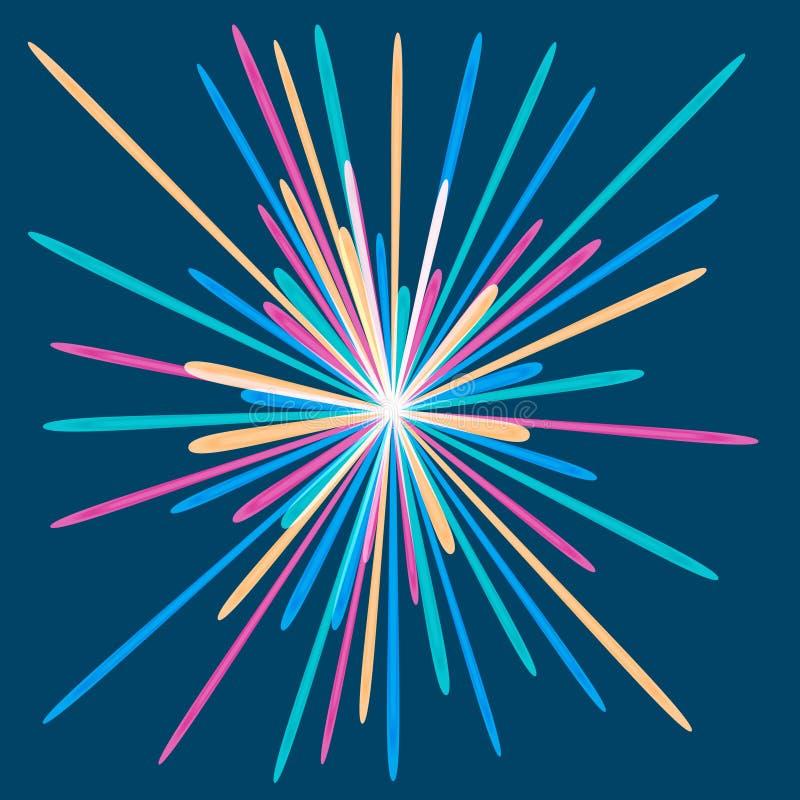 Olored Feuerwerk Ð ¡ stock abbildung