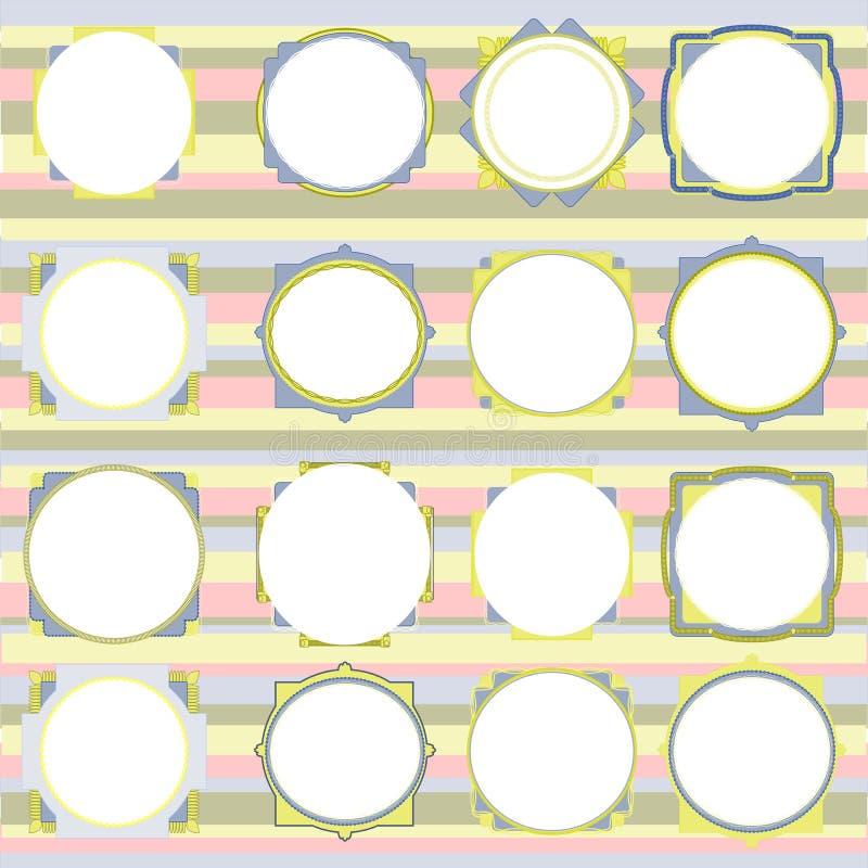 Olored Rahmen des Vektors Ñ  stockbilder