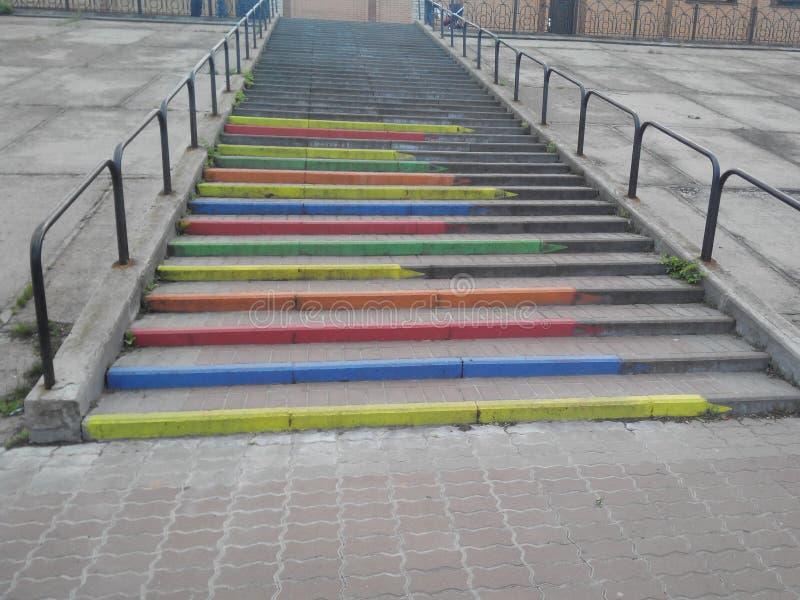 Olored trappa för Ð ¡ arkivfoton