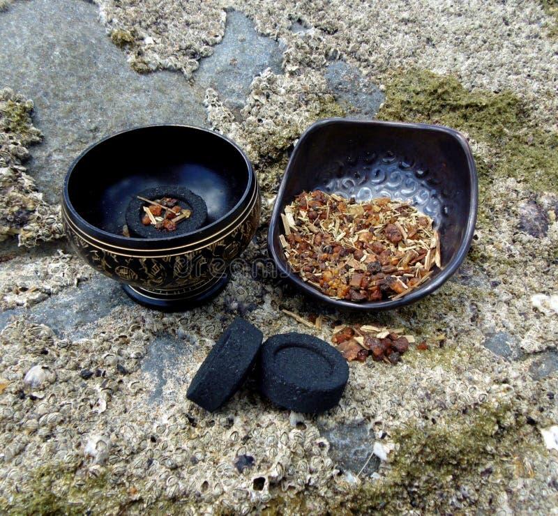 Olores de las resinas y de las hierbas 2 del alma foto de archivo libre de regalías
