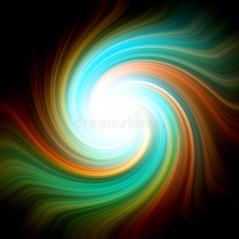 olorful光亮的螺旋 库存例证